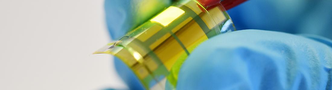 Organische Leuchtdioden auf biegsamer Folie