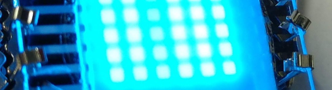 OLED-Matrix mit 1% Zinkoxid-Partikeln