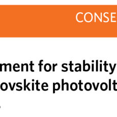 Scientific consensus for perovskite solar cells published in Nature Energy